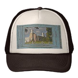 Old window Logan temple 2 Trucker Hat