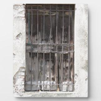 old window plaque