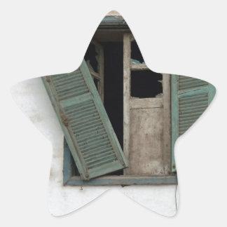 old window star sticker