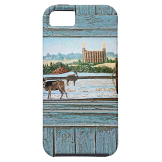 Old window temple blue iPhone 5 cases