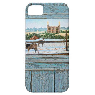 Old window temple blue iPhone 5 case