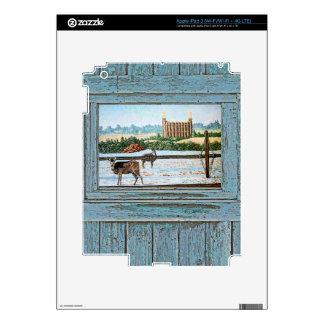 Old window temple blue iPad 3 decals