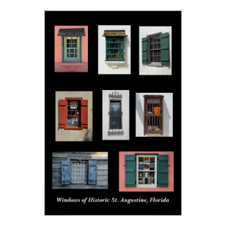 Old Windows of Historic St. Augustine, Florida Poster
