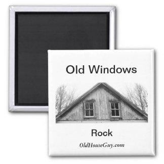Old Windows Rock Magnet