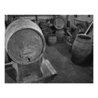 Old wine barrels flyer