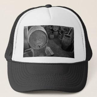 Old wine barrels trucker hat