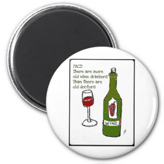 OLD WINE DRINKERS...WINE PRINT by jill 2 Inch Round Magnet