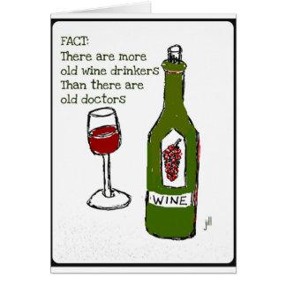 OLD WINE DRINKERS...WINE PRINT by jill Greeting Card