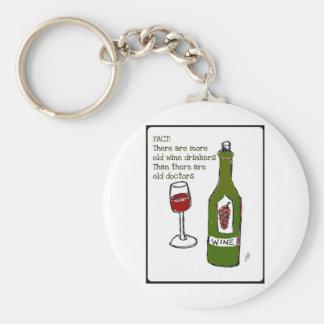 OLD WINE DRINKERS...WINE PRINT by jill Keychain