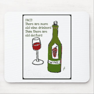 OLD WINE DRINKERS...WINE PRINT by jill Mouse Pad