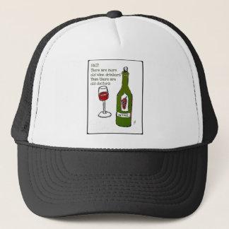 OLD WINE DRINKERS...WINE PRINT by jill Trucker Hat