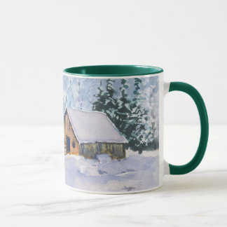 OLD WINTER BARN MERRY CHRISTMAS by SHARON SHARPE Mug