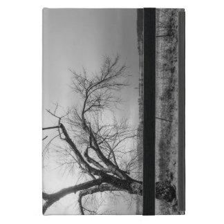 Old Winter Tree Grayscale iPad Mini Cover