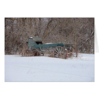 Old Winter Wagon- Greeting Card