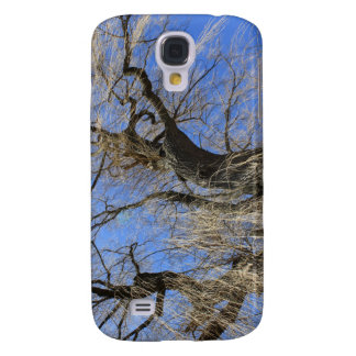 old winter willow tree against blue sky. samsung s4 case