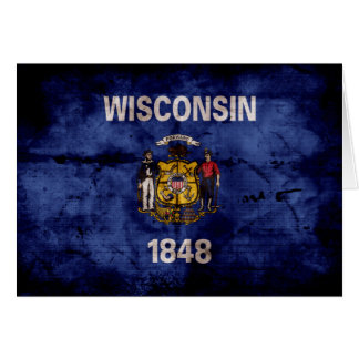 Old Wisconsin Flag Card