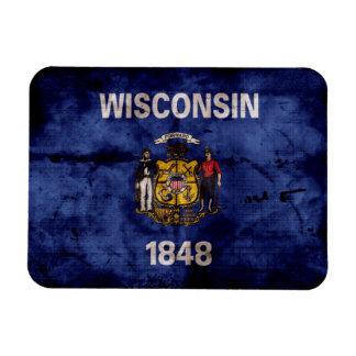 Old Wisconsin Flag Magnet