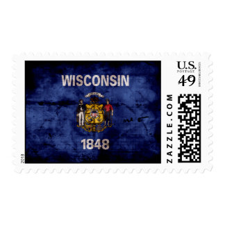 Old Wisconsin Flag Postage Stamps