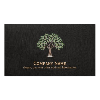Old Wise Tree Logo Nature Business Card