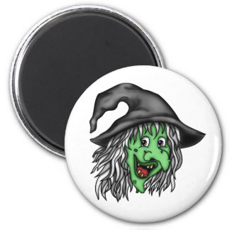 Old Witch 2 Inch Round Magnet