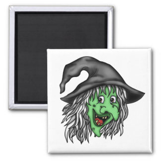 Old Witch 2 Inch Square Magnet