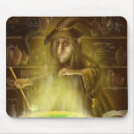 Old witch mouse pad