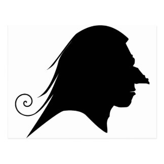 Old Witch Silhouette Postcard