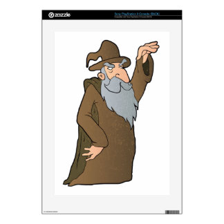 old Wizard cartoon. Decal For The PS3