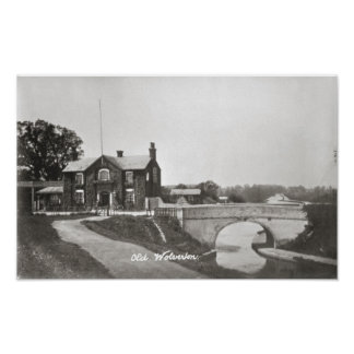 Old wolverton, canal and hotel print