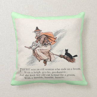 Old woman and cat mint pillow