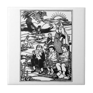 Old Woman and Shoe House Nursery Rhyme Tiles