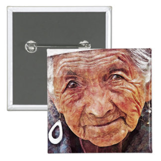 Old Woman cool watercolor portrait painting Pins