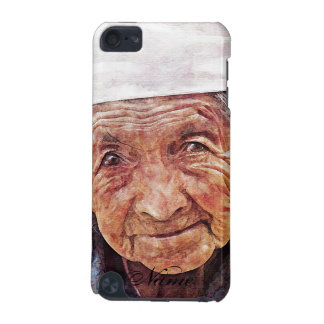 Old Woman cool watercolor portrait painting iPod Touch 5G Covers