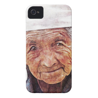 Old Woman cool watercolor portrait painting iPhone 4 Cover