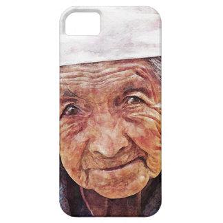 Old Woman cool watercolor portrait painting iPhone SE/5/5s Case