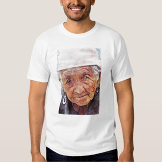 Old Woman cool watercolor portrait painting Shirt