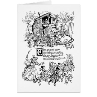 Old Woman in a Shoe Nursery Rhyme Card