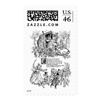 Old Woman in a Shoe Nursery Rhyme Postage Stamp