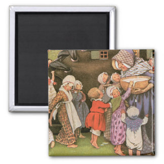 Old Woman in the Shoe 2 Inch Square Magnet