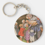 Old Woman in the Shoe Basic Round Button Keychain