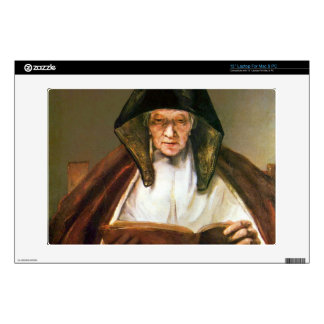 "Old woman, reading by Rembrandt Decal For 13"" Laptop"