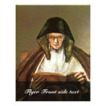 Old Woman Reading,  By Rembrandt Harmensz. Van Full Color Flyer
