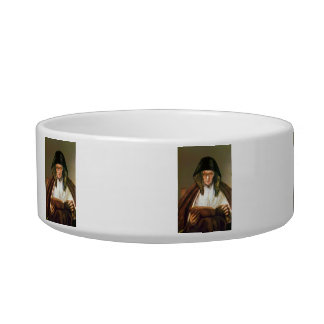 Old woman, reading by Rembrandt Cat Food Bowl