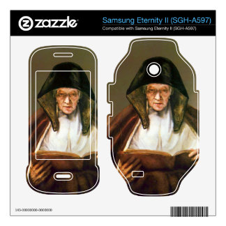 Old woman reading by Rembrandt Samsung Eternity II Decal