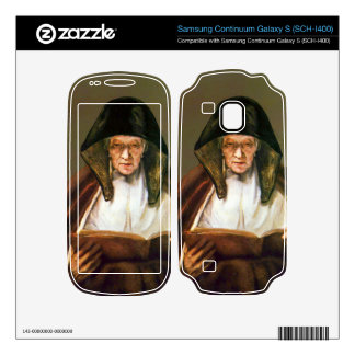 Old woman reading by Rembrandt Samsung Continuum Skins