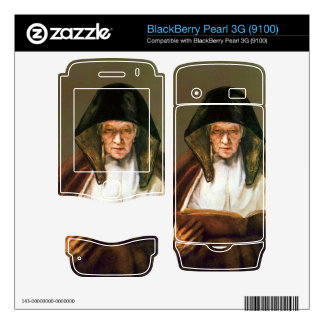 Old woman reading by Rembrandt BlackBerry Pearl 3G Decal
