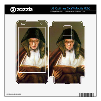 Old woman reading by Rembrandt LG Optimus 2X Skins