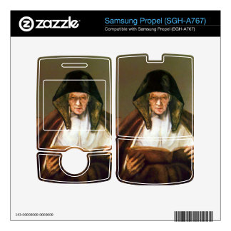 Old woman, reading by Rembrandt Samsung Propel Decal