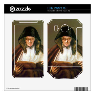 Old woman reading by Rembrandt HTC Inspire 4G Decal