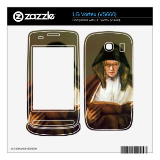 Old woman reading by Rembrandt Skin For LG Vortex